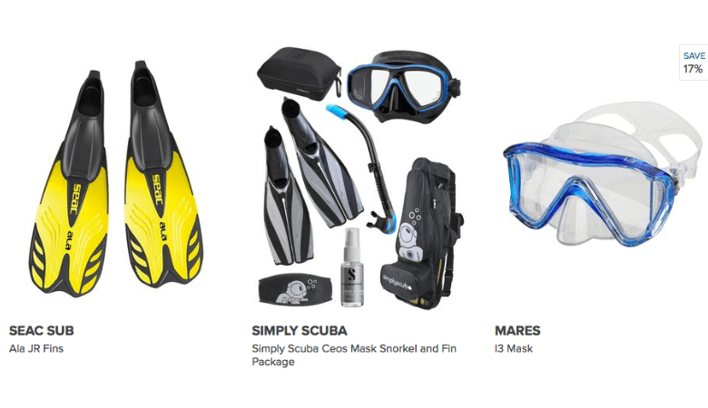 Cheap Diving And Snorkelling Equipment